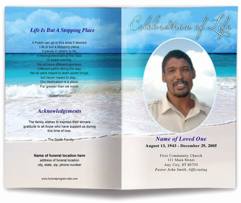 Free Funeral Program Backgrounds Beautiful Free Template for Funeral Program Picture – Free Funeral