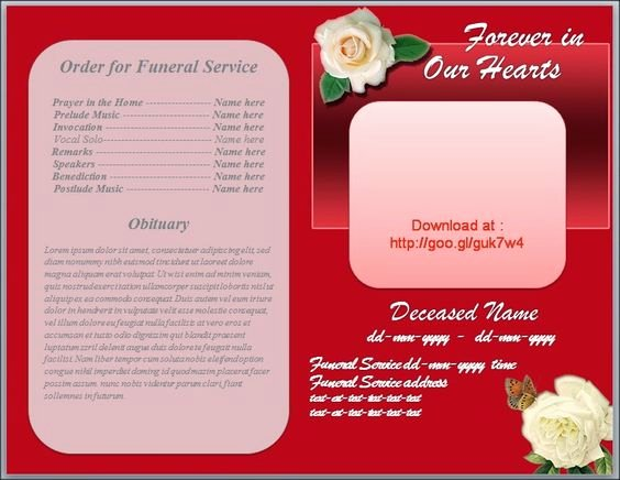 Free Funeral Program Backgrounds Beautiful Red Background White Roses and Funeral On Pinterest
