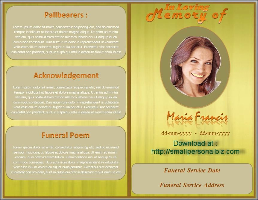 Free Funeral Program Samples Best Of Download Funeral Program Template In Ms Word with Design