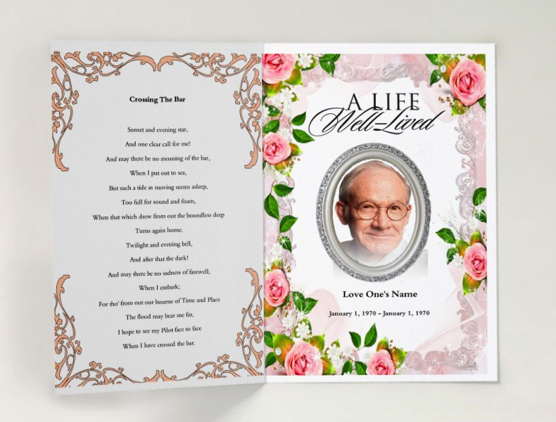 Free Funeral Program Samples Fresh Decent Funeral Template
