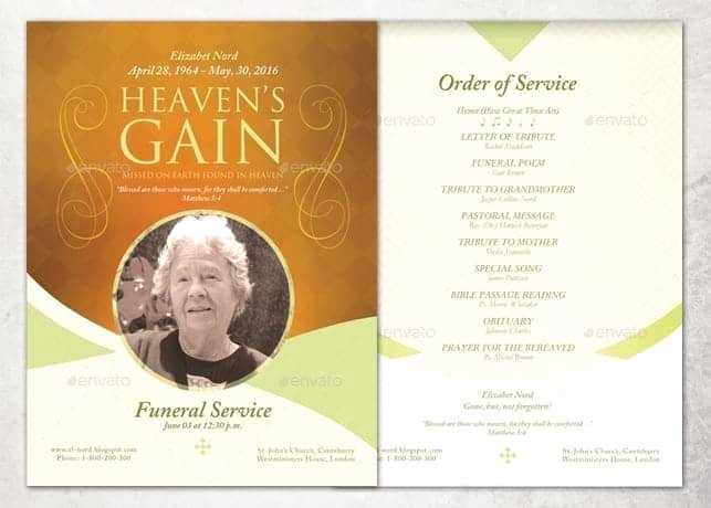 Free Funeral Program Samples Inspirational 21 Free Free Funeral Program Template Word Excel formats