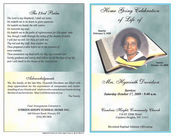 Free Funeral Program Samples Inspirational 6 Free Funeral Program Templates Microsoft Word Website