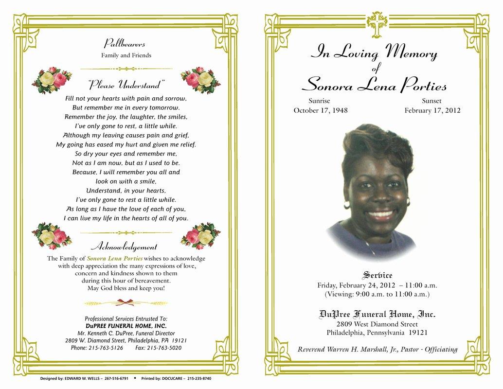 Free Funeral Program Samples Lovely Blog Archives Ebooktracker