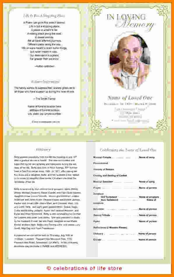 Free Funeral Program Samples New Free Memorial Program Template Pics – 12 Free Funeral