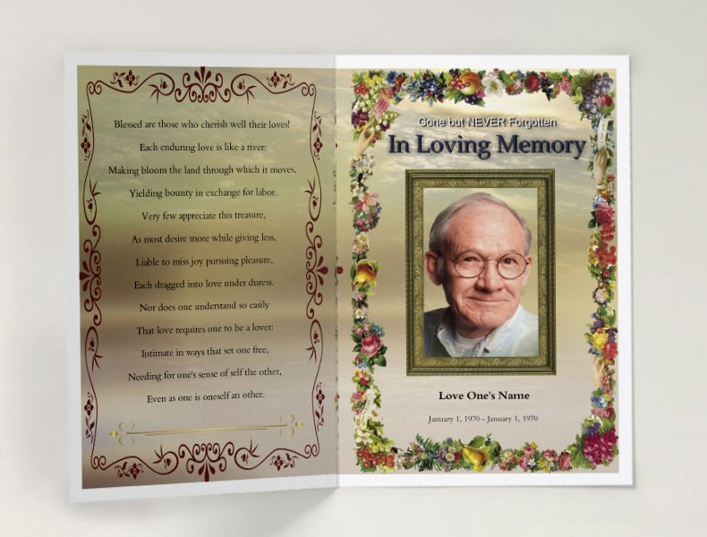 Free Funeral Program Samples Unique 75 Free Funeral Program Template