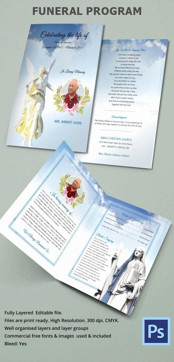 Free Funeral Program Samples Unique Sample Funeral Program Template 30 Download Free