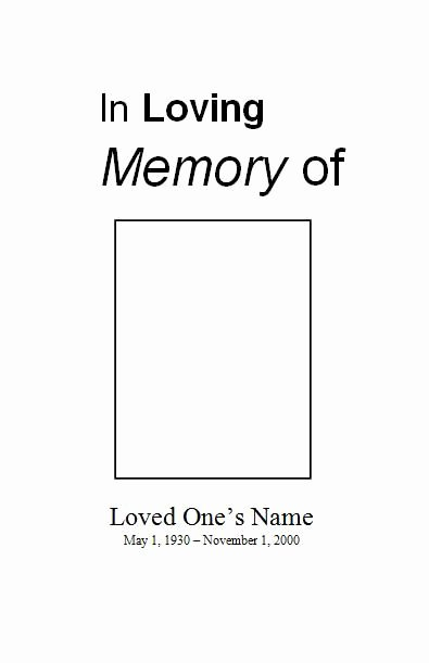 Free Funeral Service Program Template Beautiful Free Printable Obituary Template