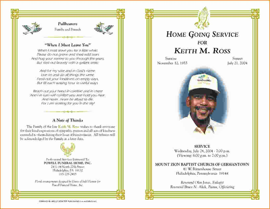 Free Funeral Service Program Template Best Of 5 Free Funeral Program Template for Word