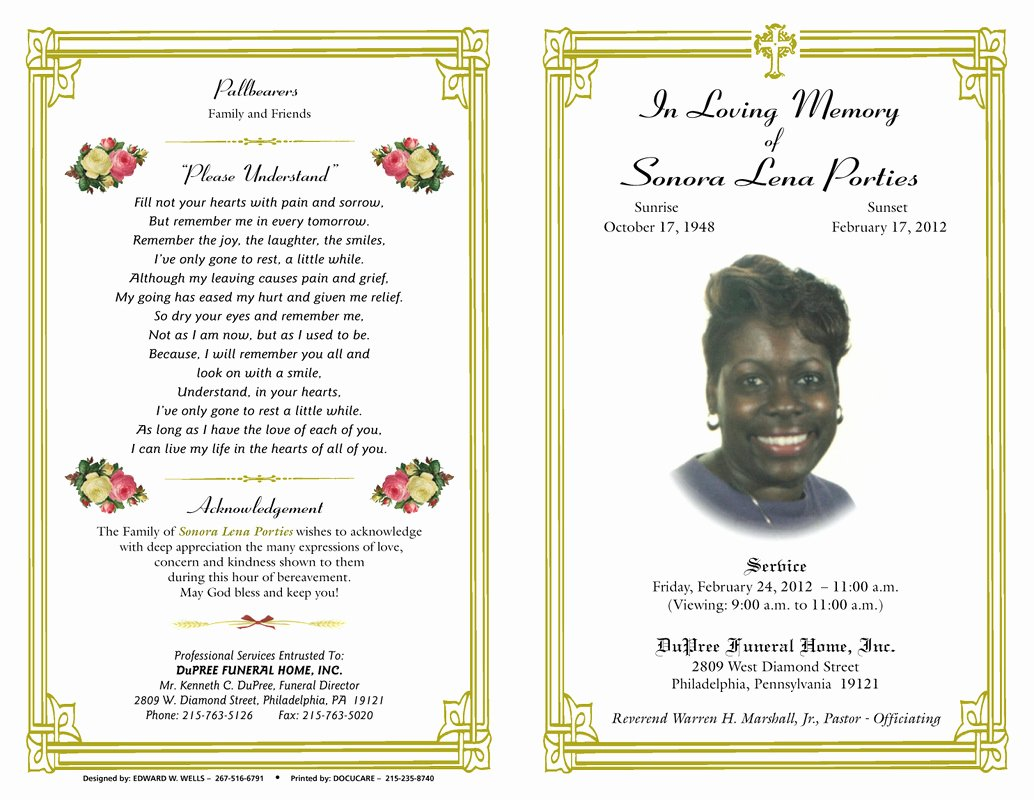 Free Funeral Service Program Template Best Of Blog Archives Ebooktracker