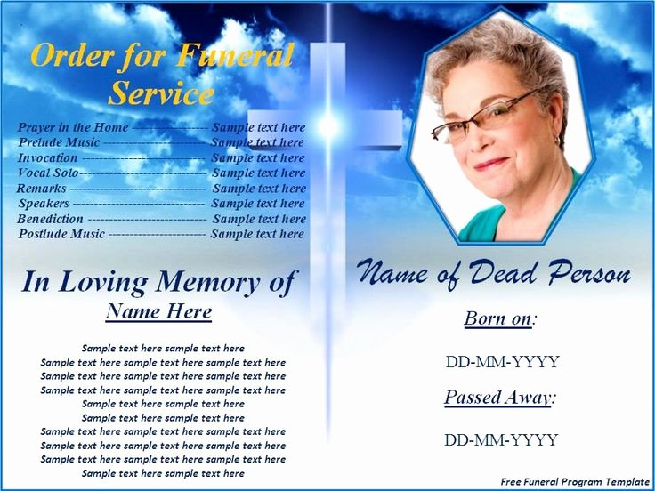 Free Funeral Service Program Template Best Of Free Funeral Program Templates