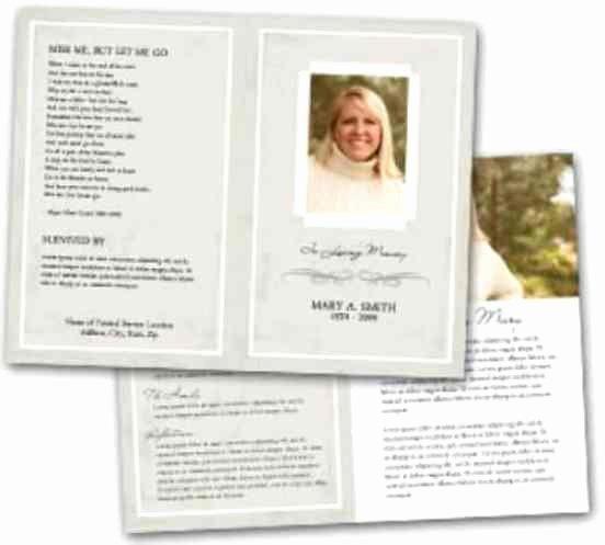 Free Funeral Service Program Template Fresh 21 Free Free Funeral Program Template Word Excel formats