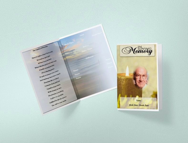 Free Funeral Service Program Template Lovely Free Funeral Program Template