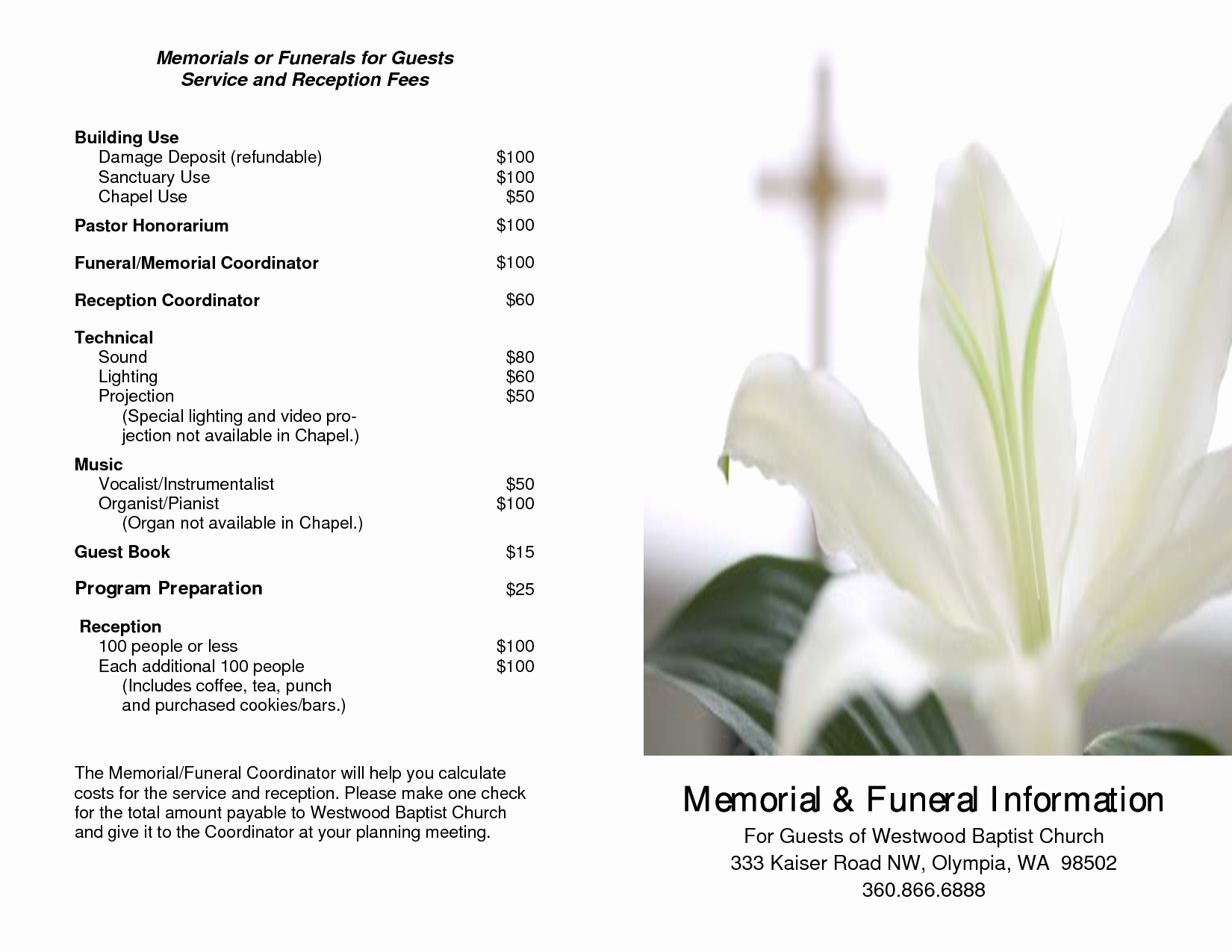 Free Funeral Service Program Template New 7 Best Of Free Printable Memorial Service Program