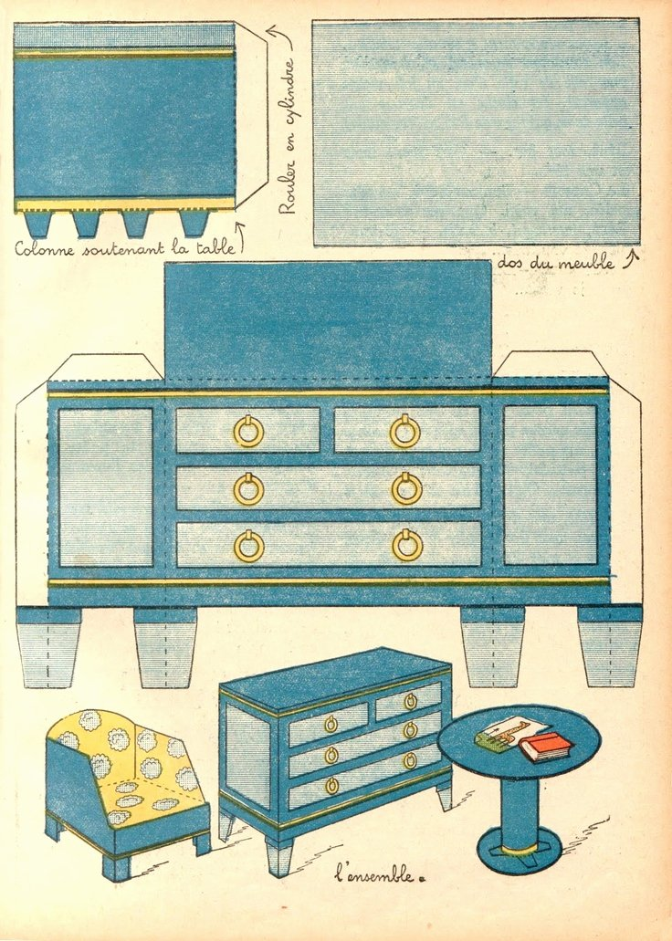 Free Furniture Templates to Print Fresh 3d Paper Doll Furniture toys Templates A Collection Of