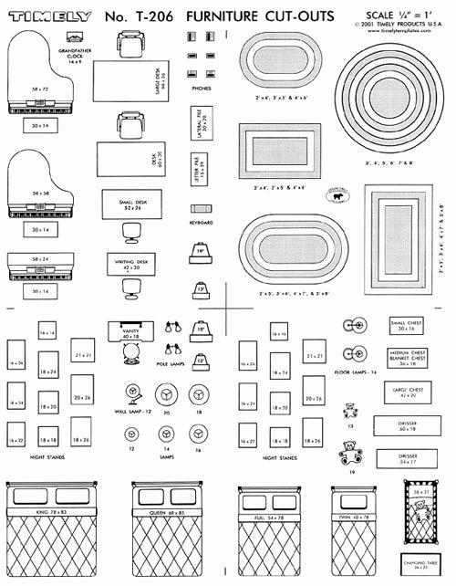 Free Furniture Templates to Print Luxury Furniture Arranging Kit 1 4 Scale Interior Design