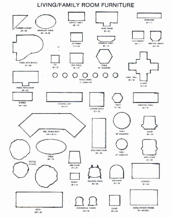 Free Furniture Templates to Print New 26 Of Free Fice Furniture Arrangement Template
