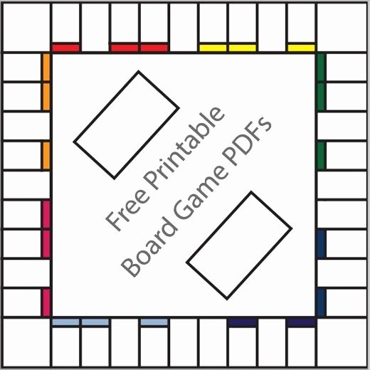 Free Game Board Template Fresh 16 Free Printable Board Game Templates