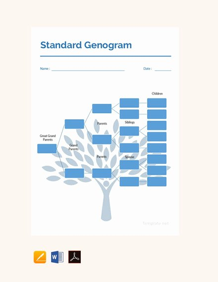 Free Genogram software for Mac Lovely 36 Genogram Templates Pdf Word Apple Pages Google