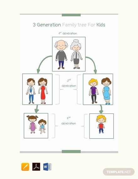 Free Genogram software for Mac Lovely Free Four Generation Genogram Template Download 58