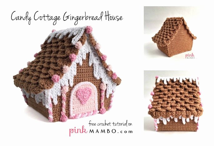 Free Gingerbread House Patterns Awesome Amazing Candy Cottage Gingerbread House Free Crochet Pattern