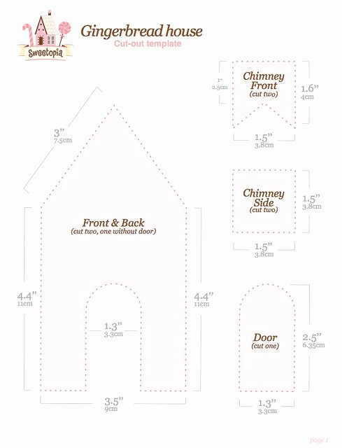 Free Gingerbread House Patterns Awesome Gingerbread House Template Free Printable