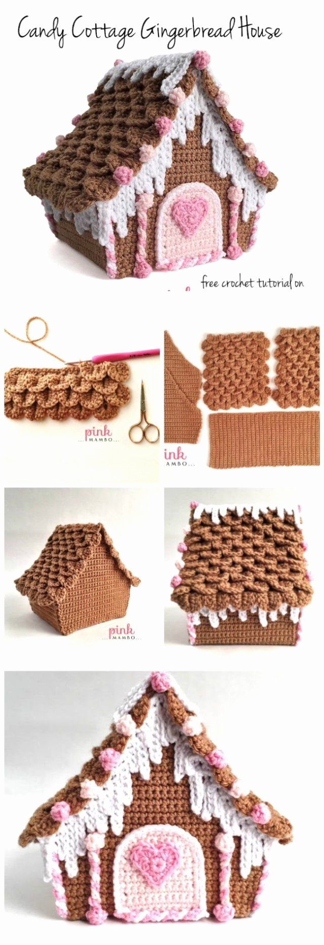 Free Gingerbread House Patterns Beautiful Delicious Crochet Gingerbread House Pattern