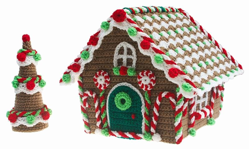 Free Gingerbread House Patterns Fresh Christmas Crochet Decorations to Make Your Home Festive