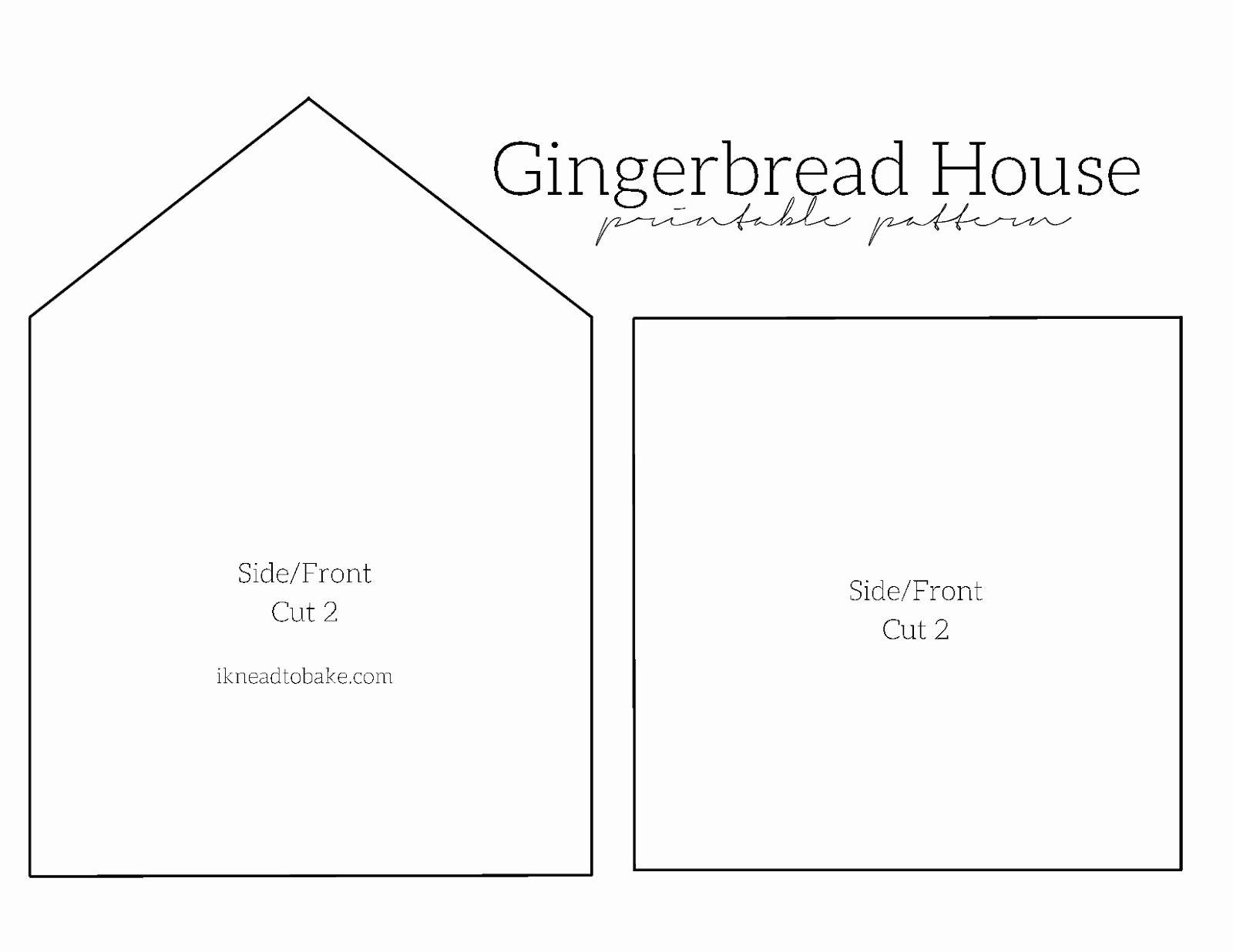 Free Gingerbread House Patterns Inspirational Gingerbread House Free Printable Pattern Freeprintable