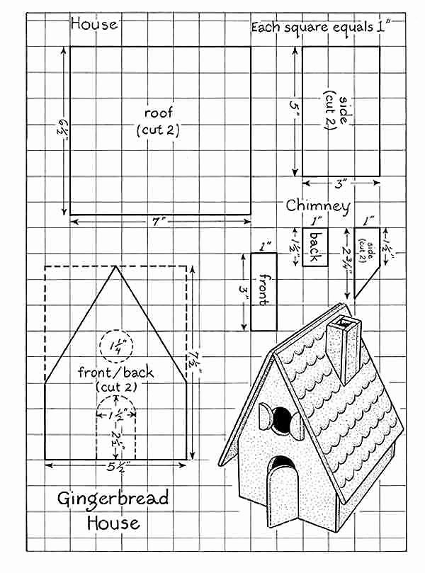 Free Gingerbread House Patterns Inspirational Page 001 Gingerbread House Patterns