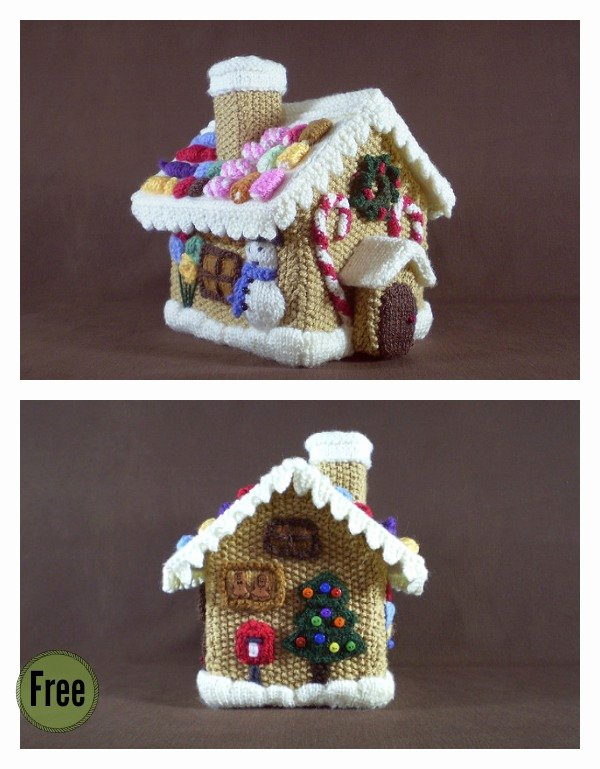 Free Gingerbread House Patterns Luxury Gingerbread House Free Knitting Pattern and Idea
