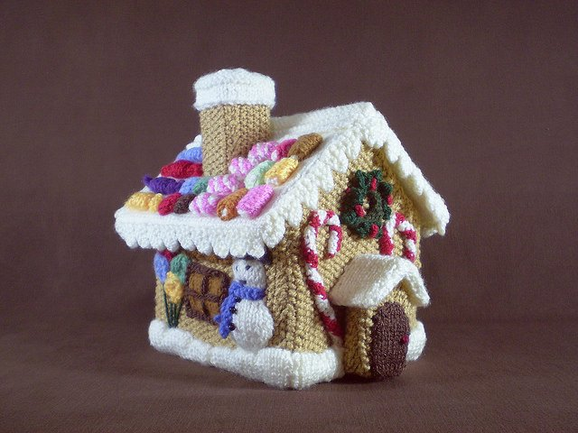Free Gingerbread House Patterns Unique Christmas Decorations Knitting Patterns