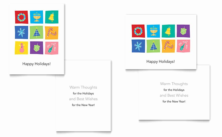 Holiday Icons Greeting Card Templates XX D