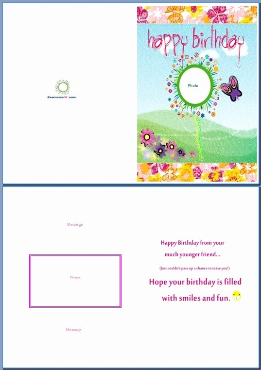 Free Greeting Card Template Word Fresh Birthday Card Template Word