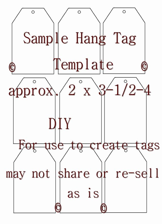 Free Hang Tag Template Fresh Unavailable Listing On Etsy