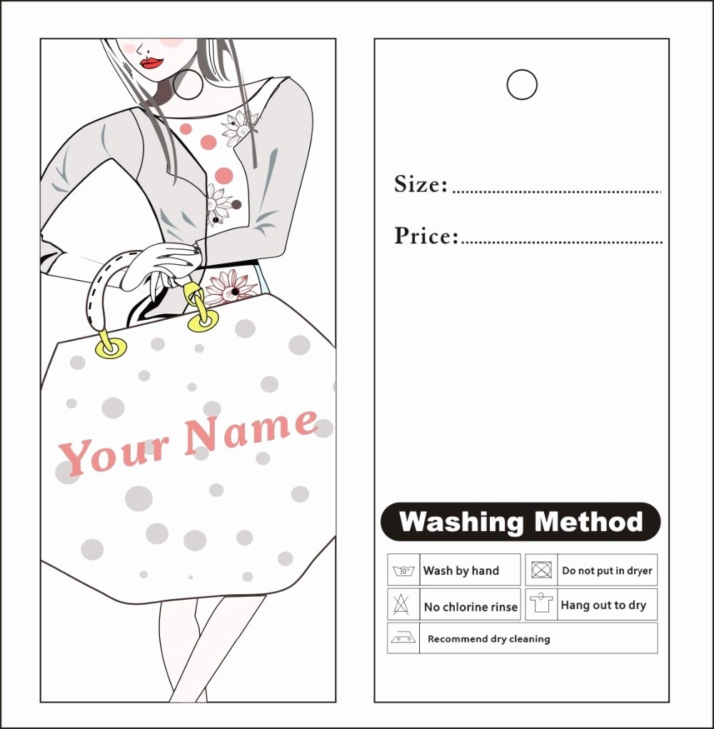 Free Hang Tag Template New Aliexpress Buy Custom Print Hang Tags Price Label