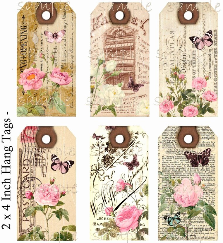 Free Hang Tag Template New Instant Download Hang Tags Shabby Meets by Countryatheart2008