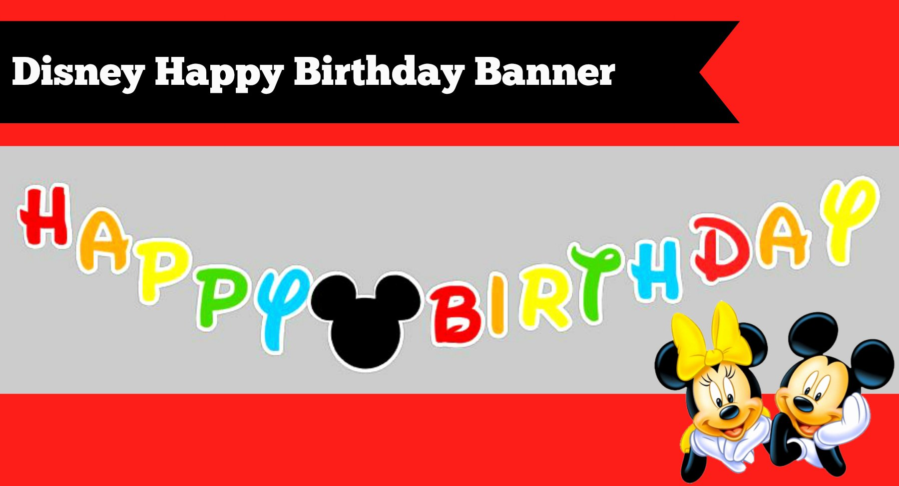 Free Happy Birthday Poster Luxury How to Make A Diy Mickey Mouse Clubhouse Inspired Happy