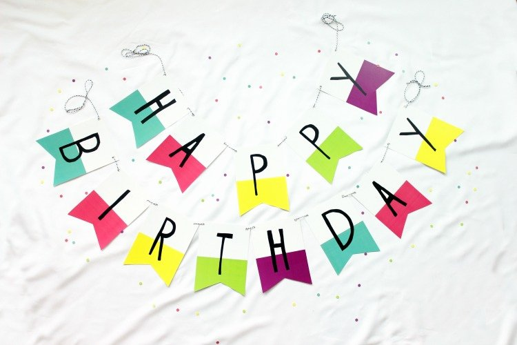 Free Happy Birthday Poster New Free Printable Banner Happy Birthday Pennants Consumer