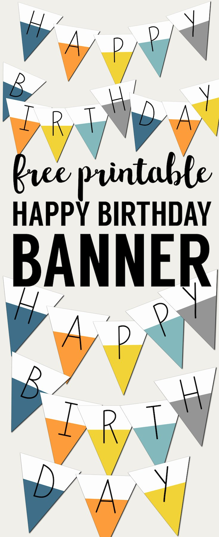 Free Happy Birthday Poster New Free Printable Happy Birthday Banner Paper Trail Design