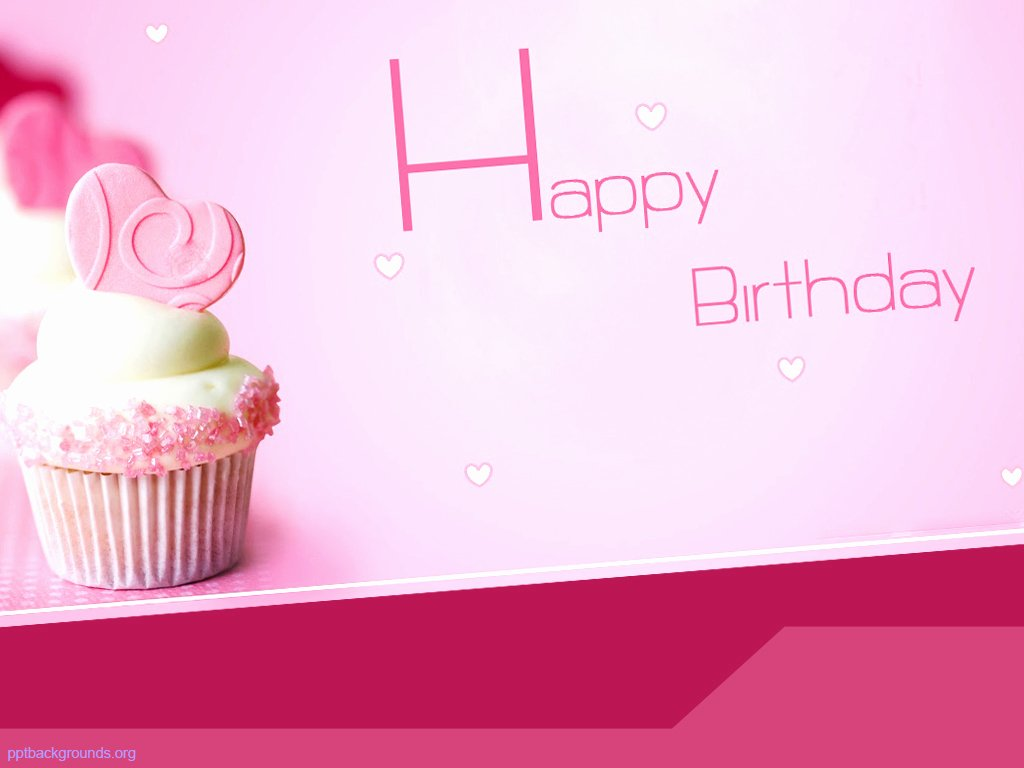 pink happy birthday with cake backgrounds