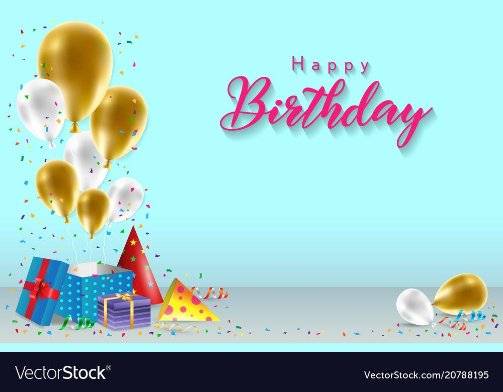 Free Happy Birthday Template Fresh Happy Birthday Background Template Royalty Free Vector Image