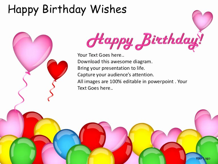 Free Happy Birthday Template Fresh Happy Birthday Wishes Powerpoint Presentation Templates