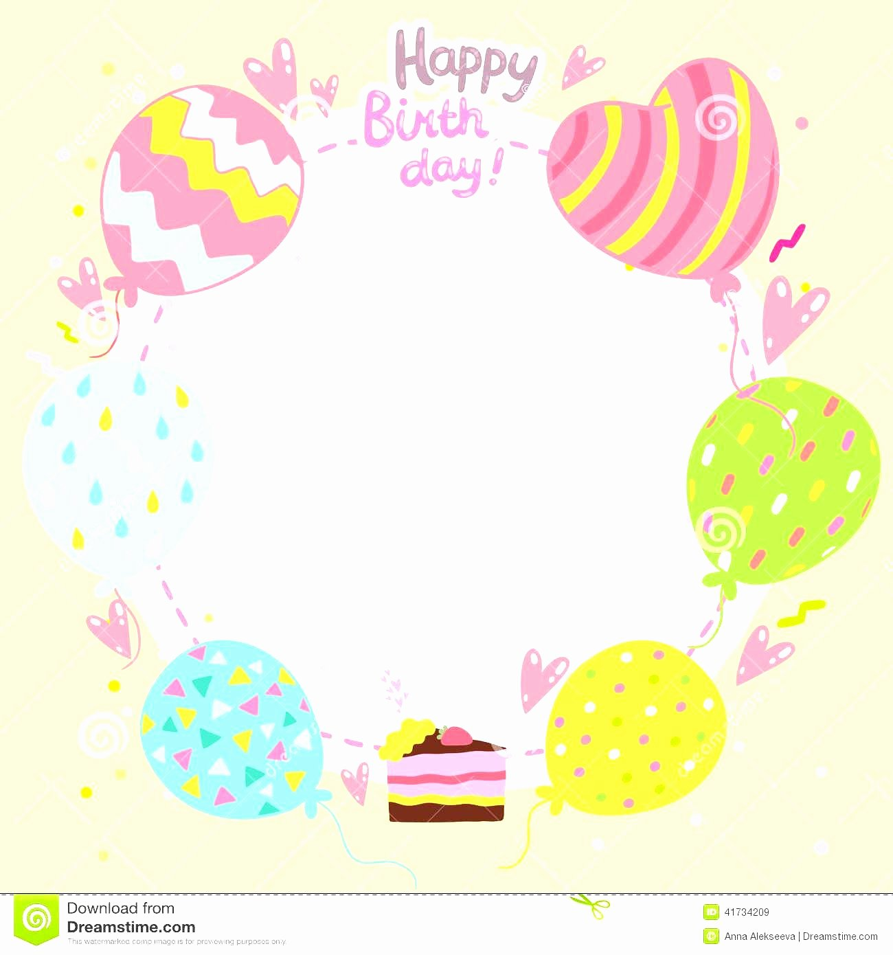 Free Happy Birthday Template Inspirational Birthday Card Template