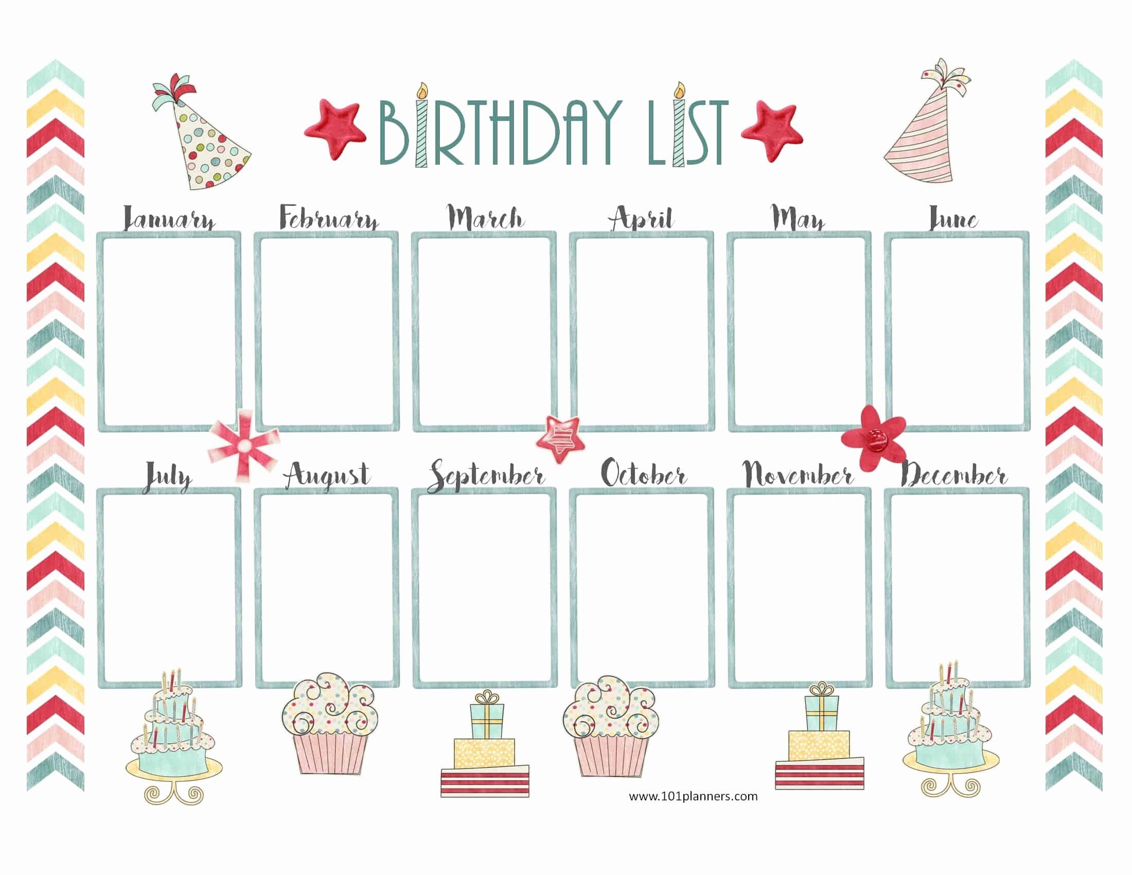 Free Happy Birthday Template Luxury Free Birthday Calendar Printable & Customizable