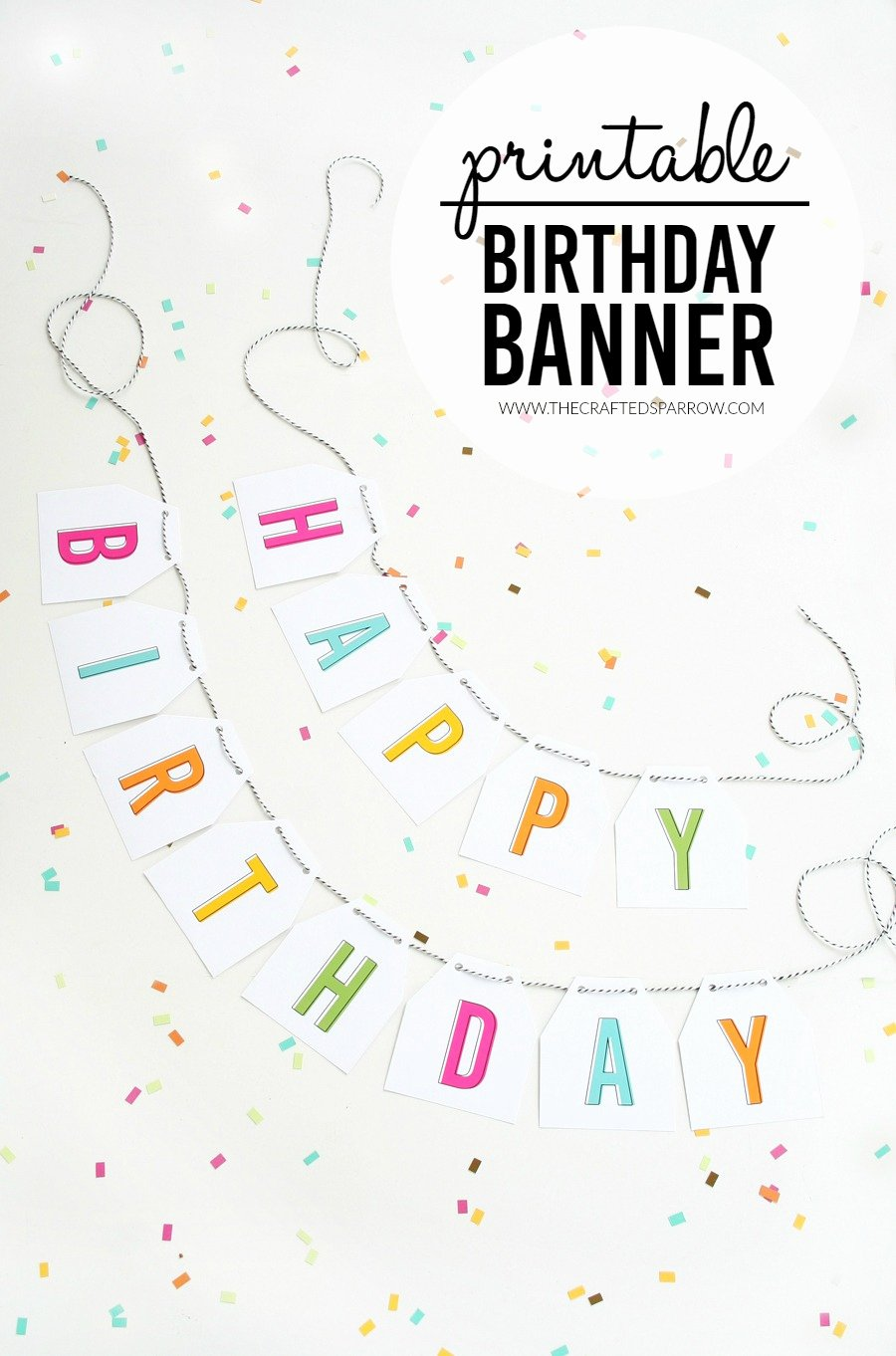 Free Happy Birthday Template New Free Printable Birthday Banner