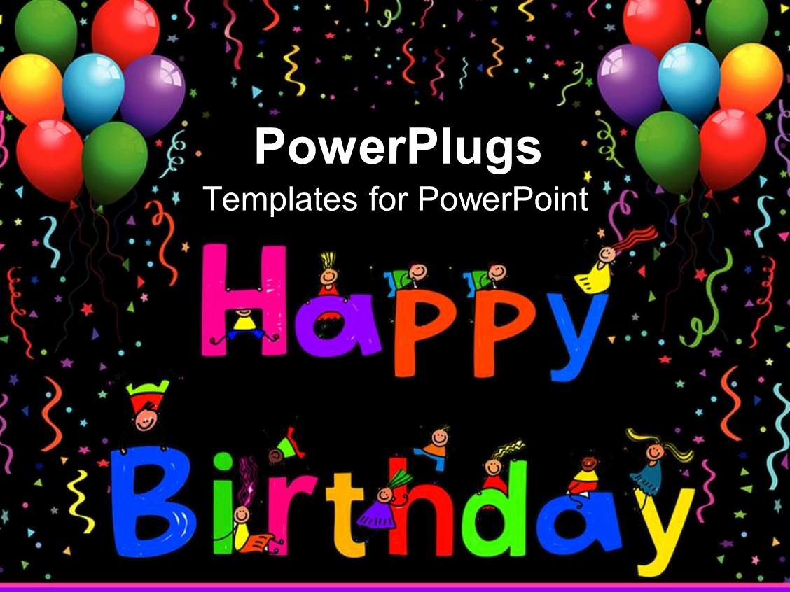 Free Happy Birthday Template New Powerpoint Template Kids Climbing Happy Birthday Letters