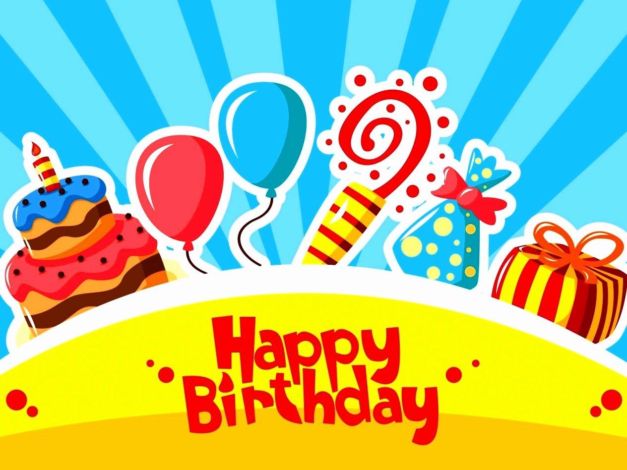 Free Happy Birthday Template Unique Free Happy Birthday Templates for Powerpoint Template