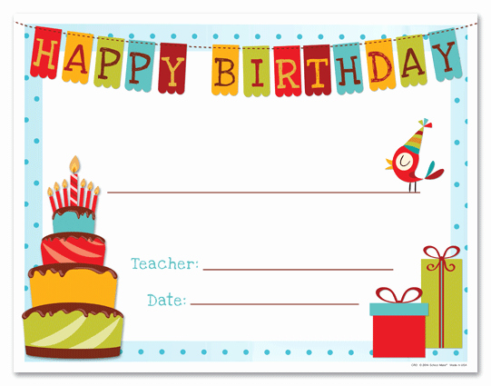 Free Happy Birthday Template Unique Happy Birthday Gift Certificate Template