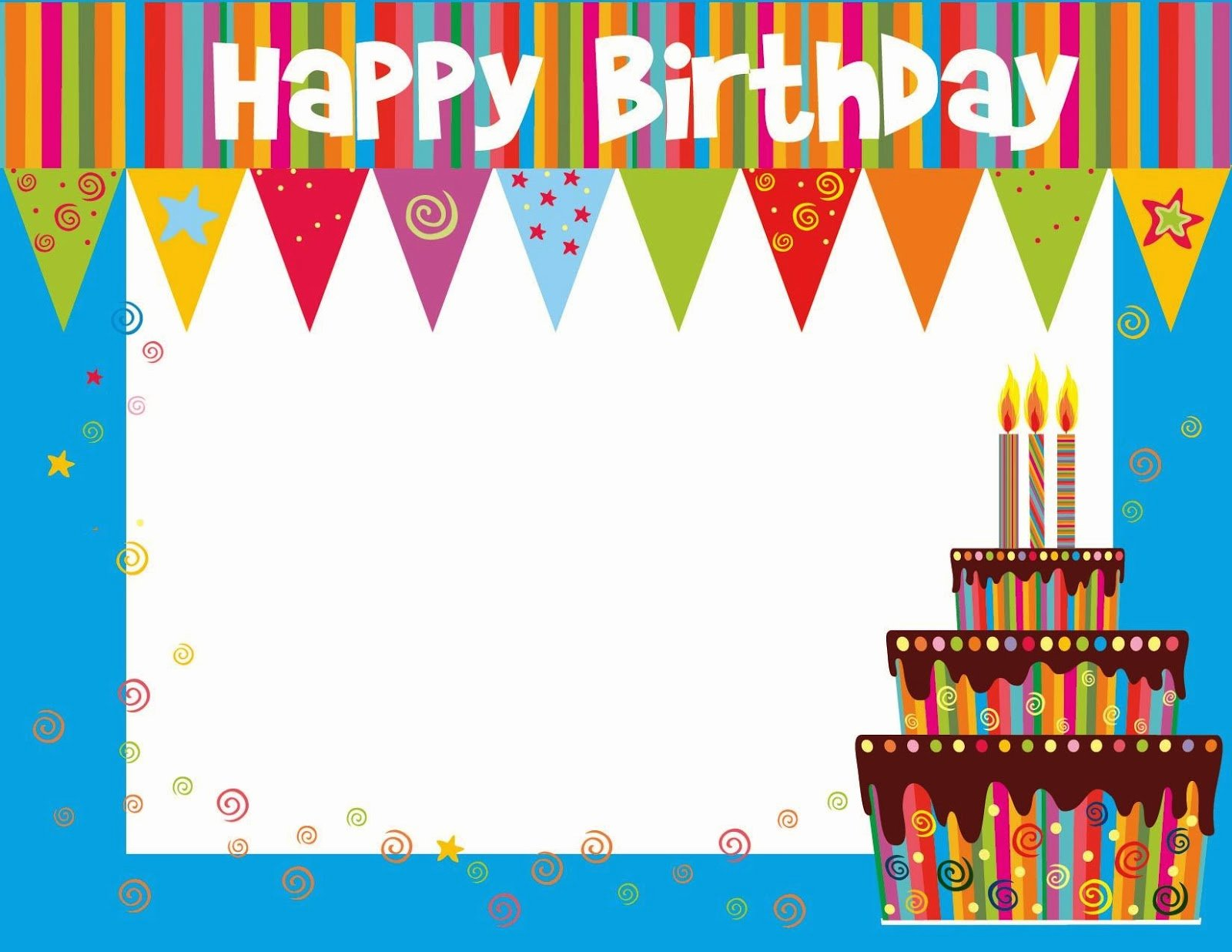 Free Happy Birthday Templates Awesome Free Printable Birthday Cards Ideas Greeting Card Template