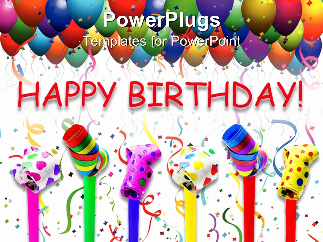 Free Happy Birthday Templates Elegant Powerpoint Template Different Can S with Various Colors